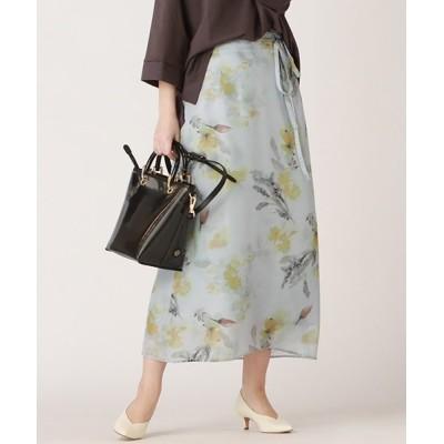 Droite lautreamont / ローンウォーターフラワープリントスカート WOMEN スカート > スカート
