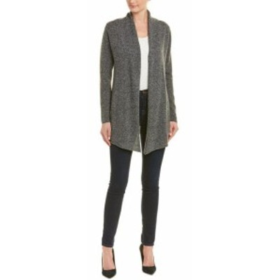 IN Cashmere インカシミア ファッション トップス In Cashmere Shawl Lapel Cardigan L Black