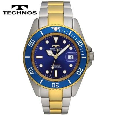 TECHNOS/テクノス オールステンレス 10気圧防水 クオーツ メンズ 腕時計 TSM402TN