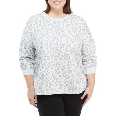 オリーブアンドオーク レディース シャツ トップス Plus Size Long Sleeve Cozy Fleece Sweatshirt