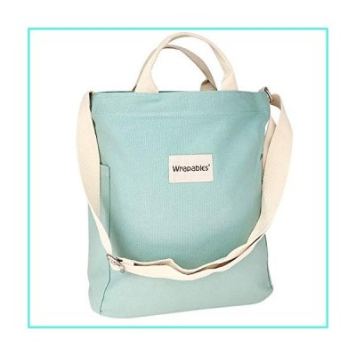 【新品】Wrapables Women's Canvas Tote Bag, Casual Cross Body Shoulder Handbag, Sea Foam, One Size(並行輸入品)