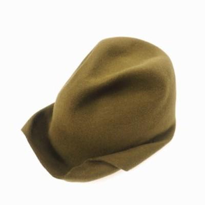 【中古】レナードプランク 19AW ウール 変形 中折れ ハット キャップ帽 帽子 SZIE 11 カーキ col.24 国内正規 メンズ