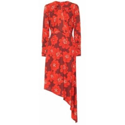 ドド バー オア Dodo Bar Or レディース ワンピース ミドル丈 ワンピース・ドレス Asymmetric floral midi dress Linda Bordo w Red