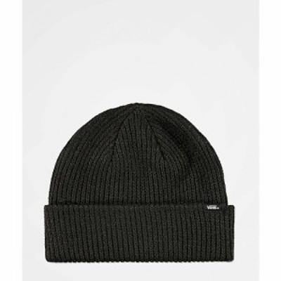 ヴァンズ VANS レディース ニット ビーニー 帽子 core basic black beanie Black