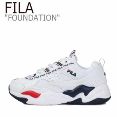 フィラ スニーカー FILA メンズ レディース FOUNDATION ファンデーション ホワイト ネイビー レッド FS1RIB3153X シューズ