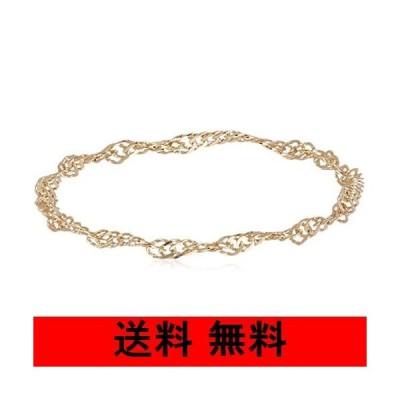[プレシャス] イエローゴールド K10 10金 チェーンリング 指輪 ピンキーリング スクリューチェーン レディース オリジナルクロス1枚付き 1