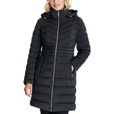 マイケル コース Michael Kors レディース ダウン・中綿ジャケット アウター Petite Hooded Packable Water-Resistant Puffer Coat Black
