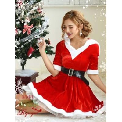 サンタ 衣装 コスプレ コスチューム コンパニオン 衣装 パーティー 仮装 Ryuyu サンタ セット フレアー ワンピース