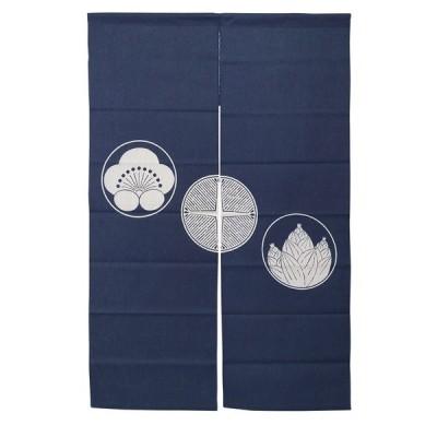 暖簾-のれん 綿100% 刺し子のれん 松竹梅 130cm n-1106 日本製