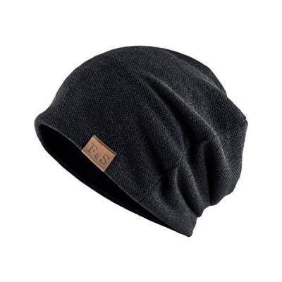 ニット帽 メンズ 2020年秋冬コレクション ストレスフリーな新感覚ニットワッチ ビーニー ニットキャップ(#1.ブラック Free Size)