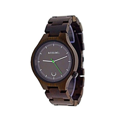 Naturjuwel Handmade Wood Watch Color Sandalwood Wooden Wristband with Elegant Gift Box and Tool for Trimming The Wristband Men Women Unisex 並行輸