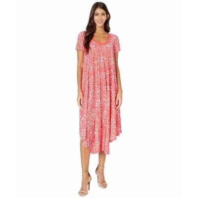 フィッジ ワンピース トップス レディース T-Shirt Knee Length Poppy Print Dress Caramella