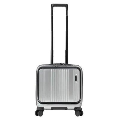 【全商品ポイント10倍】 BERMAS INTER CITY バーマス インターシティー フロントオープン スーツケース キャリーケース 38cm 33L TS 4輪 シルバー 6050322