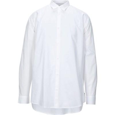 アルマーニ ARMANI EXCHANGE メンズ シャツ トップス solid color shirt White