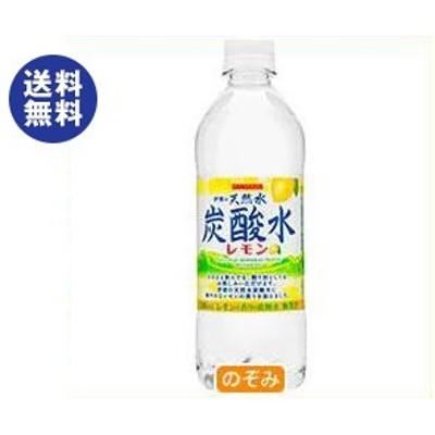 送料無料  サンガリア  伊賀の天然水 炭酸水 レモン  500mlペットボトル×24本入