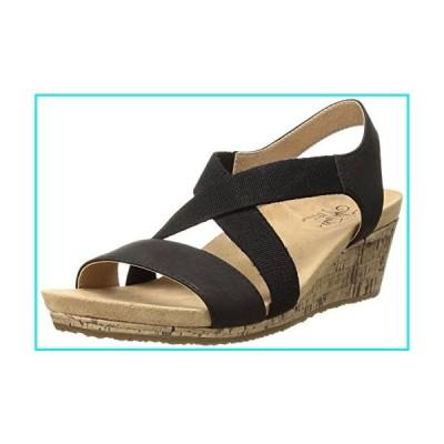 LifeStride Women's Mexico Wedge Sandal, Black, 8 M US【並行輸入品】