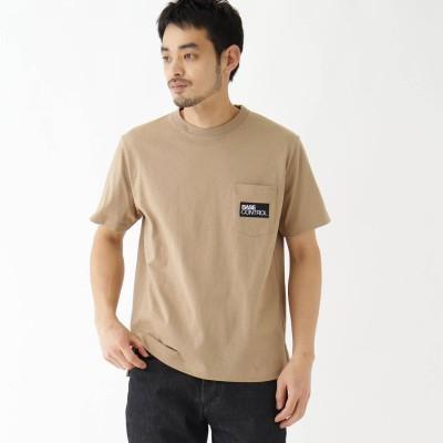 ベース コントロール BASE CONTROL 抗菌防臭 ロゴグラフィックバリエーション 半袖Tシャツ (ベージュ)