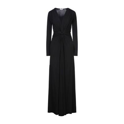 パロッシュ P.A.R.O.S.H. ロングワンピース&ドレス ブラック S レーヨン 95% / ポリウレタン 5% ロングワンピース&ドレス