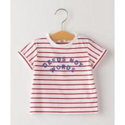 シップスSHIPS KIDS:ボーダー 刺繍 TEE(80~90cm)【お取り寄せ商品】