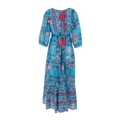アンジュナ ANJUNA ロングワンピース&ドレス ターコイズブルー XS コットン 100% ロングワンピース&ドレス