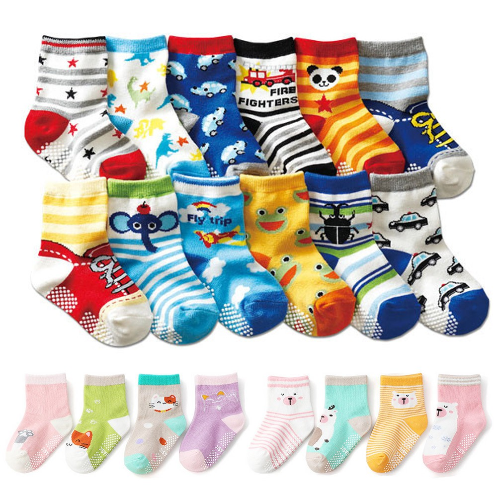 Baby童衣 (1-8歲) 寶寶襪 夏季網眼襪 動物襪 棉襪多入組 卡通條紋童襪 防滑襪 襪子88273