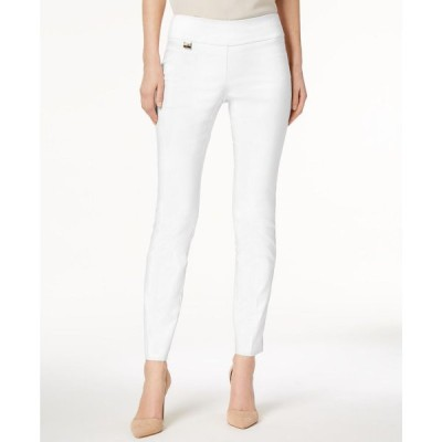 アルファニ Alfani レディース スキニー・スリム ボトムス・パンツ Petite Tummy-Control Pull-On Skinny Pants, Petite & Petite Short Bright White