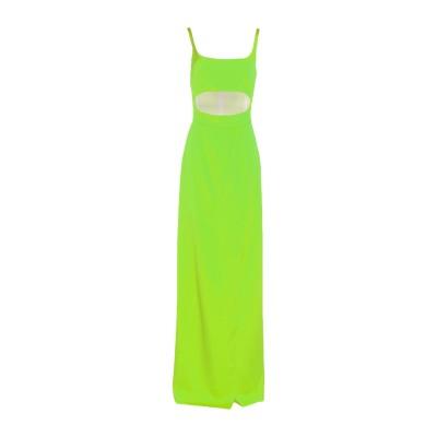BROGNANO ロングワンピース&ドレス グリーン 38 ポリエステル 100% ロングワンピース&ドレス