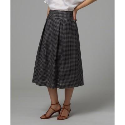 スカート [L]ミモレ丈フレアスカート