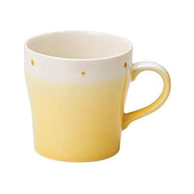 宗峰窯 マグカップ ミルク型 ぬりわけ イエロー φ9×9cm(350cc) 759-28-433
