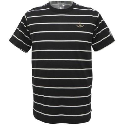 30%OFF 2020春夏新作 シナコバ 黒ボーダー 半袖丸首Tシャツ《細》(M、L、LL) TS*0120130530810