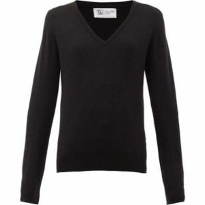 ジョンストンズ オブ エルガン Johnstons Of Elgin レディース ニット・セーター Vネック トップス V-neck cashmere sweater Black