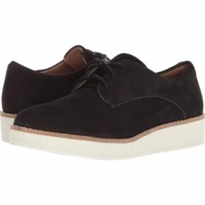 ソフトウォーク SoftWalk レディース ローファー・オックスフォード シューズ・靴 Willis Black Smooth Nubuck Leather