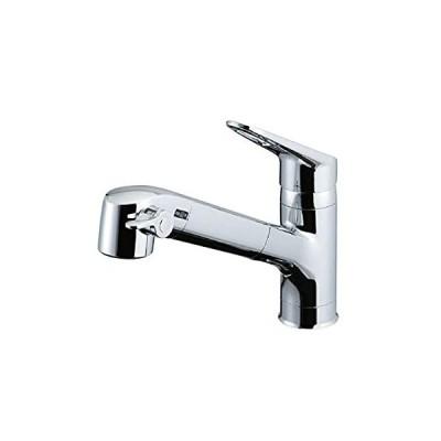LIXIL(リクシル) INAX キッチン用 台付 浄水器内蔵シングルレバー混合水栓 エコハンドル 浄水 微細シャワー整流 ホース引出し RJF-77