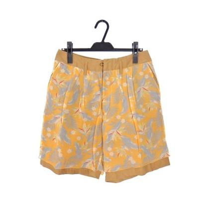 【中古】カラー kolor 14SS ボタニカル柄 ショートパンツ ショーツ ボトムス 1 オレンジ 橙 14SCM-P01101 春夏 メンズ 【ベクトル 古着】