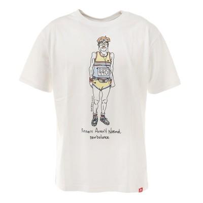 ニューバランスウェアTシャツ 半袖 Essentials ランナー MT11543WT カットソーホワイト