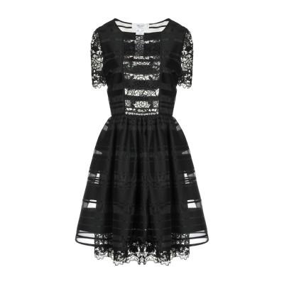 ブルーガール ブルマリン BLUGIRL BLUMARINE ミニワンピース&ドレス ブラック 42 コットン 80% / ナイロン 14% / ポ