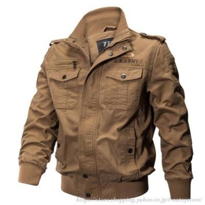 ジャケット ミリタリージャケット 厚手薄手 ブルゾン ジャンバー アウター 陸軍 ミリタリーファッション 秋冬 メンズ