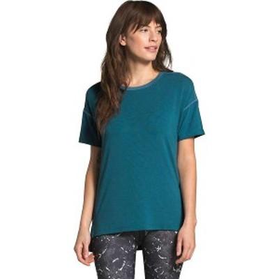 ノースフェイス レディース Tシャツ トップス The North Face Women's Workout SS Top Mallard Blue