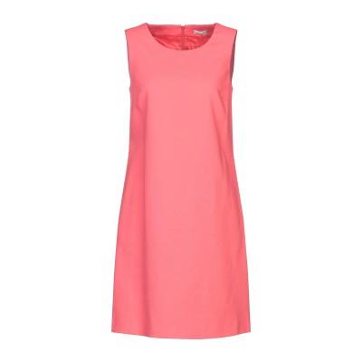 CAPPELLINI by PESERICO ミニワンピース&ドレス コーラル 42 コットン 99% / ポリウレタン 1% ミニワンピース&ドレス