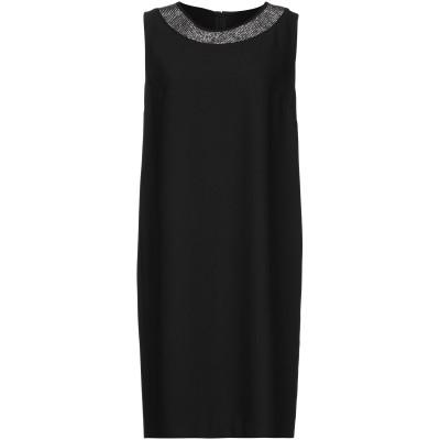 CRISTINA ROCCA ミニワンピース&ドレス ブラック 46 ポリエステル 100% ミニワンピース&ドレス