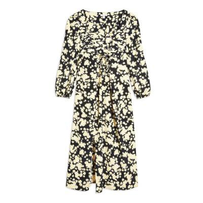 トップショップ TOPSHOP 7分丈ワンピース・ドレス ブラック 6 ポリエステル 100% 7分丈ワンピース・ドレス