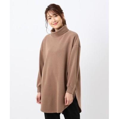 any FAM / 起毛タートルネックロングプルオーバー WOMEN トップス > Tシャツ/カットソー