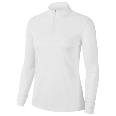 ナイキ Nike レディース ゴルフ トップス Dry Victory UV 1/2 Zip Golf Top White/White