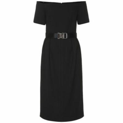 フェンディ Fendi レディース ワンピース ワンピース・ドレス belted wool dress Black