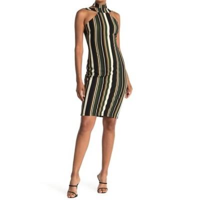 ベベ レディース ワンピース トップス Body Con Halter Dress GRN/MUL
