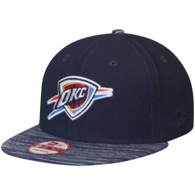 ユニセックス スポーツリーグ バスケットボール Oklahoma City Thunder New Era Current Logo Team Solid 9FIFTY Snapback Adjustable Ha