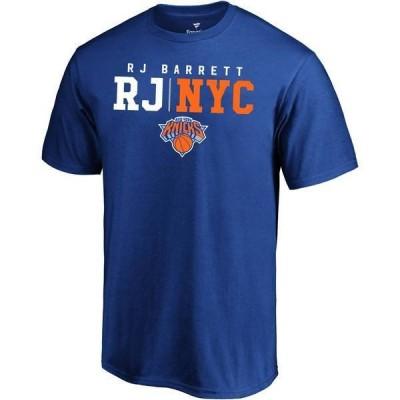ファナティクス メンズ Tシャツ トップス NBA Men's New York Knicks RJ Barrett Royal T-Shirt
