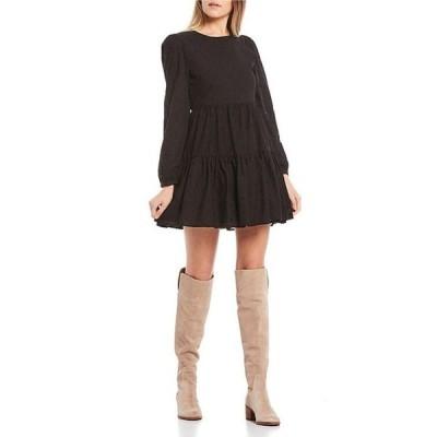 ジービー レディース ワンピース トップス Embroidered Dot Long Sleeve Tiered Dress