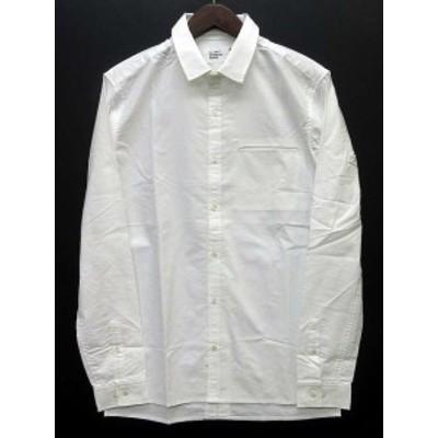 【中古】未使用品 ブランクコンセプトウェア VLANK CONCEPT WEAR シャツ 長袖 2WAY カラー 襟 DETACHABLE COLLARED SHIRT ホワイト 白 1