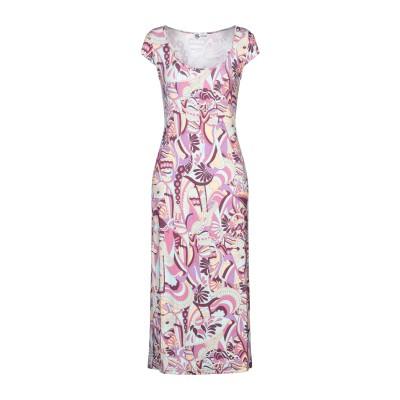 BINI Como 7分丈ワンピース・ドレス パープル 40 レーヨン 95% / ポリウレタン 5% 7分丈ワンピース・ドレス